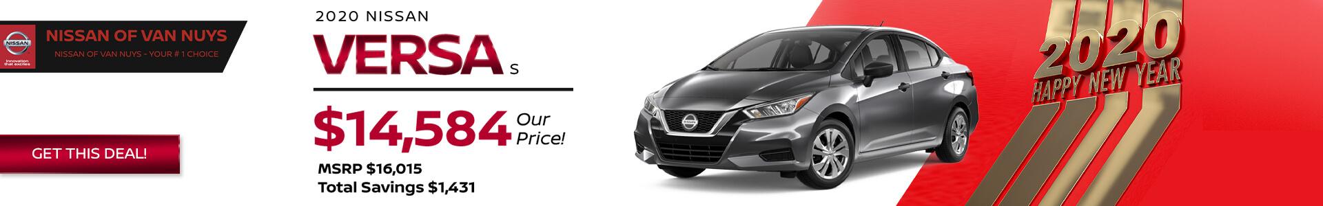 Nissan Versa SRP