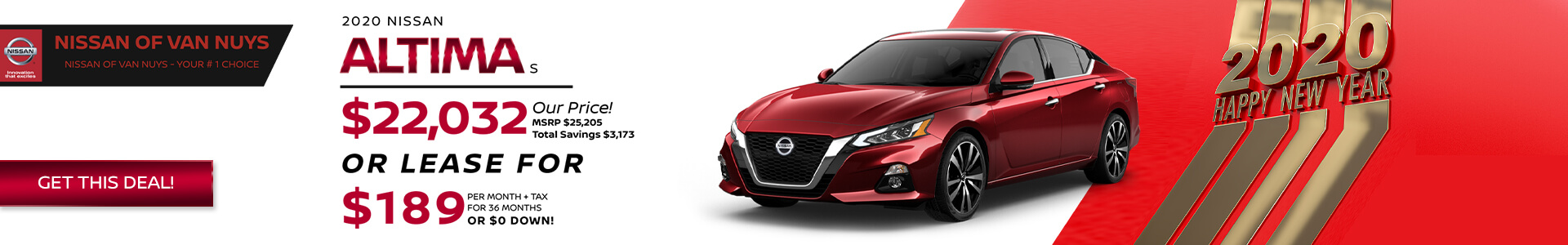 Nissan Altima - Lease for $189
