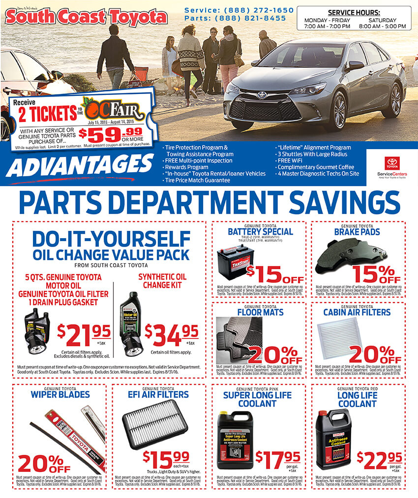 Discount toyota parts coupon code