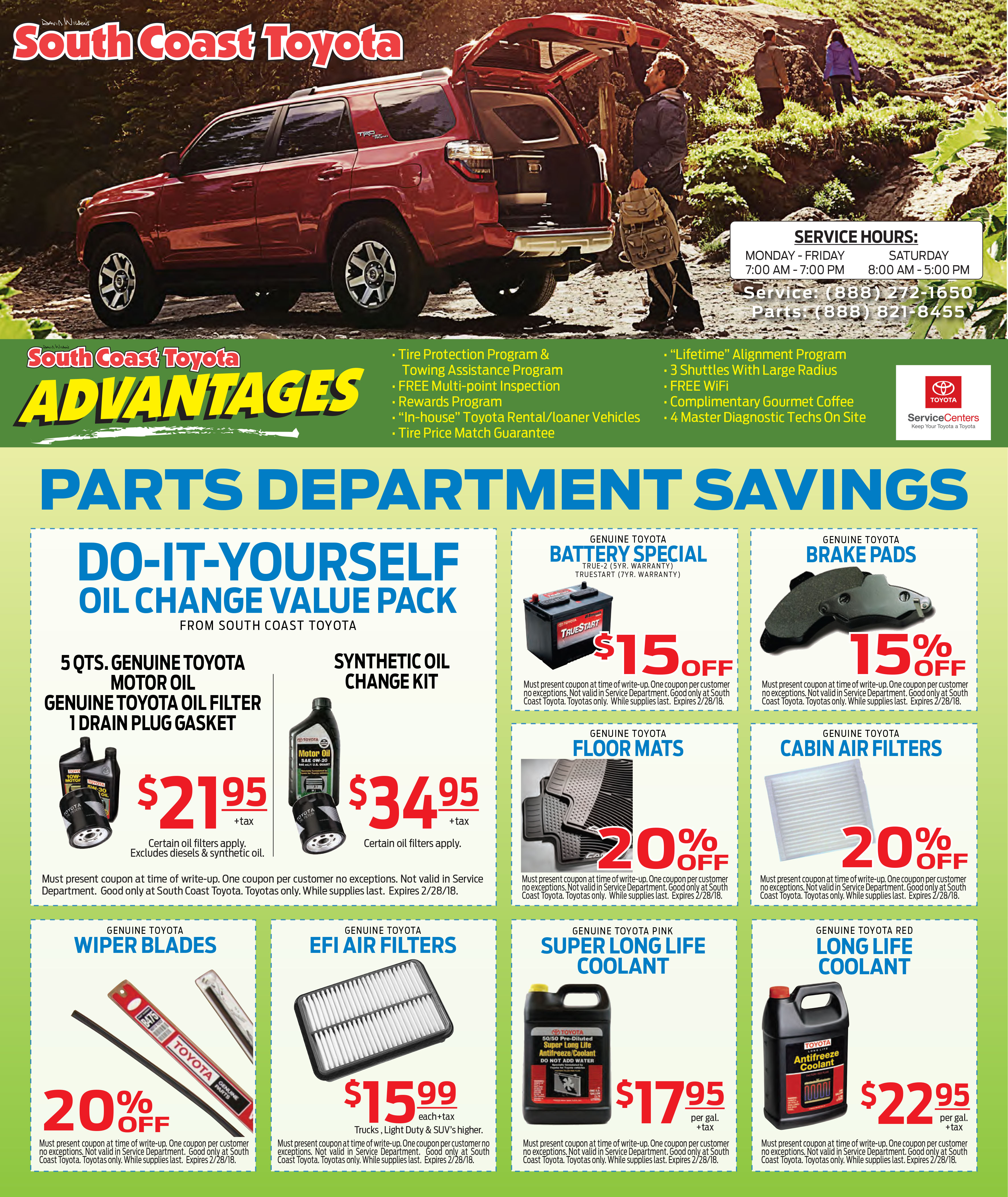 Toyota parts coupons denver