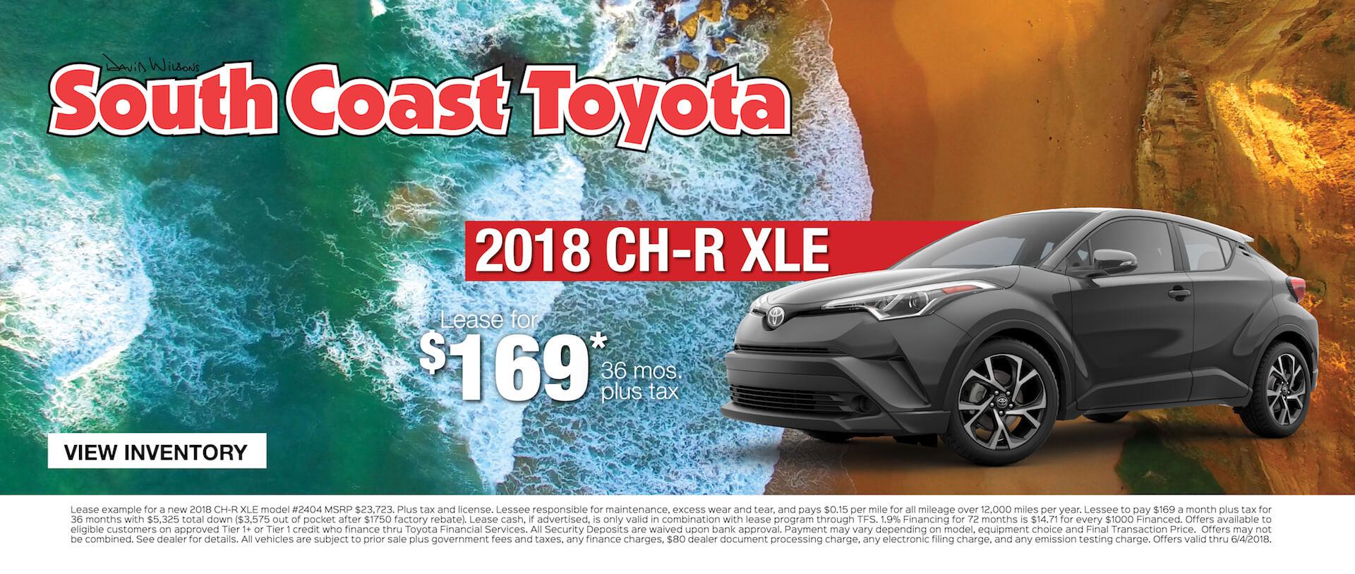 Toyota CH-R $169 Lease