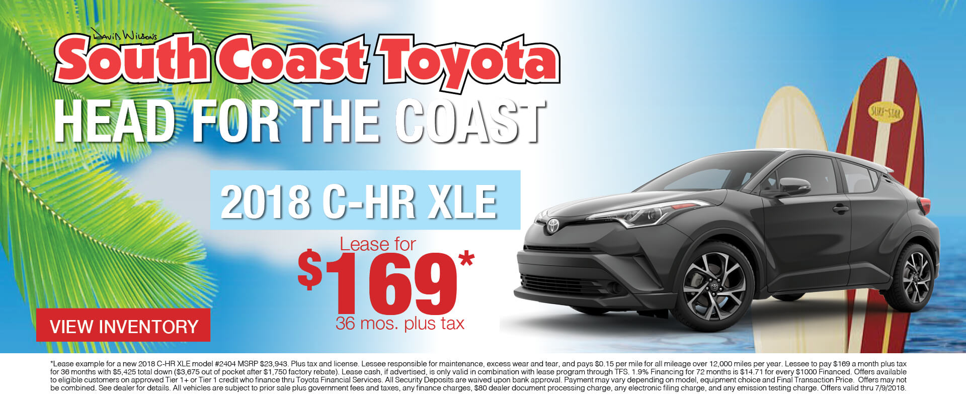 Memorial Day Toyota CH-R $169 Lease