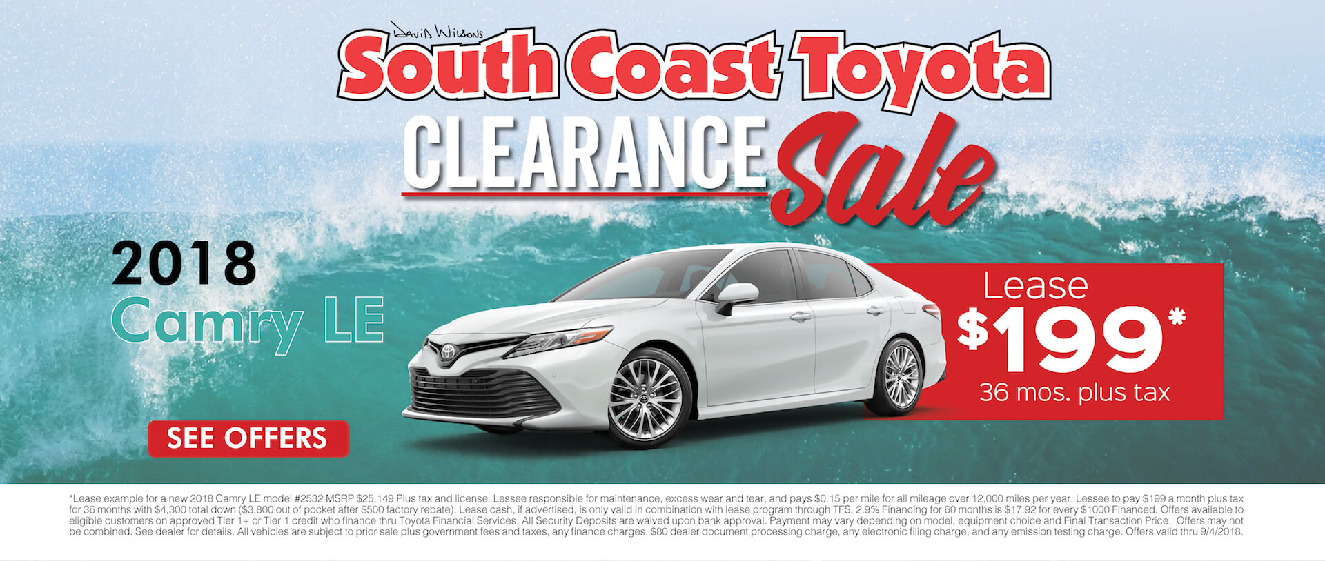 Toyota Camry $199 Lease