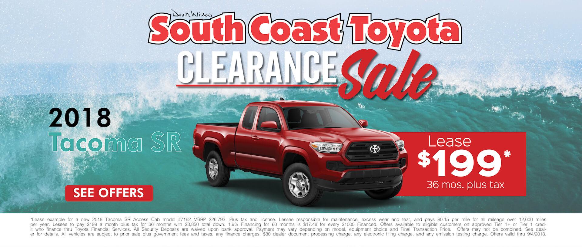 Toyota Tacoma $199 Lease