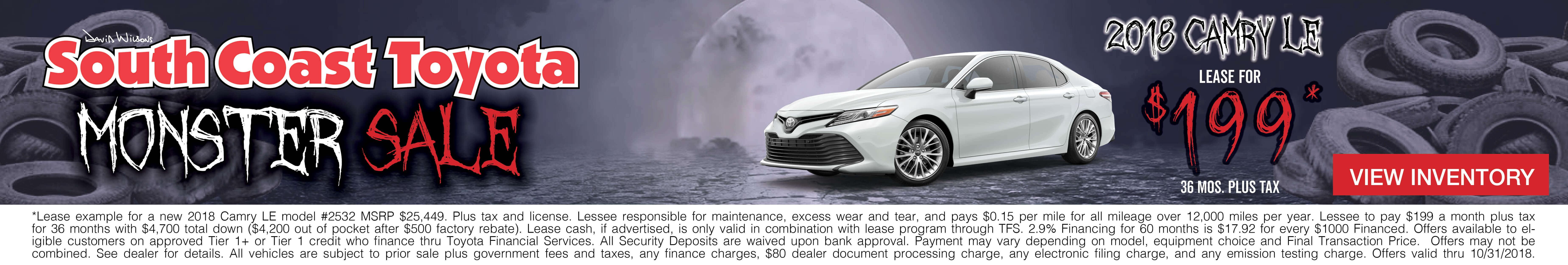 Toyota Camry $209 Lease