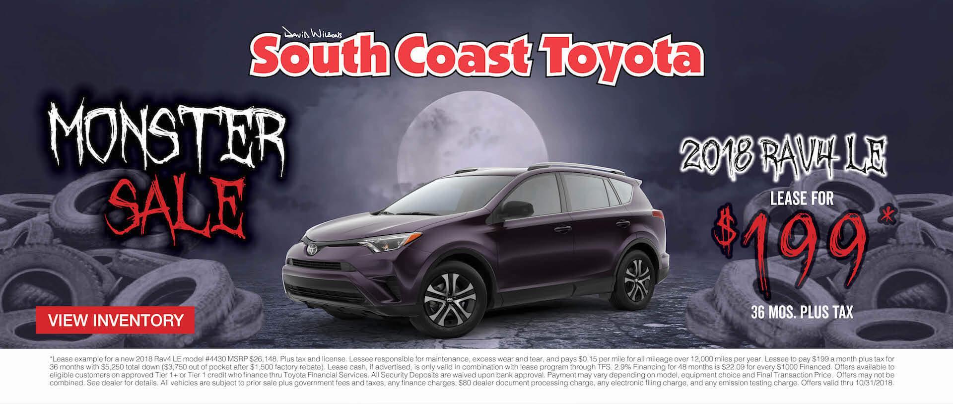 Toyota RAV4 $199 Lease