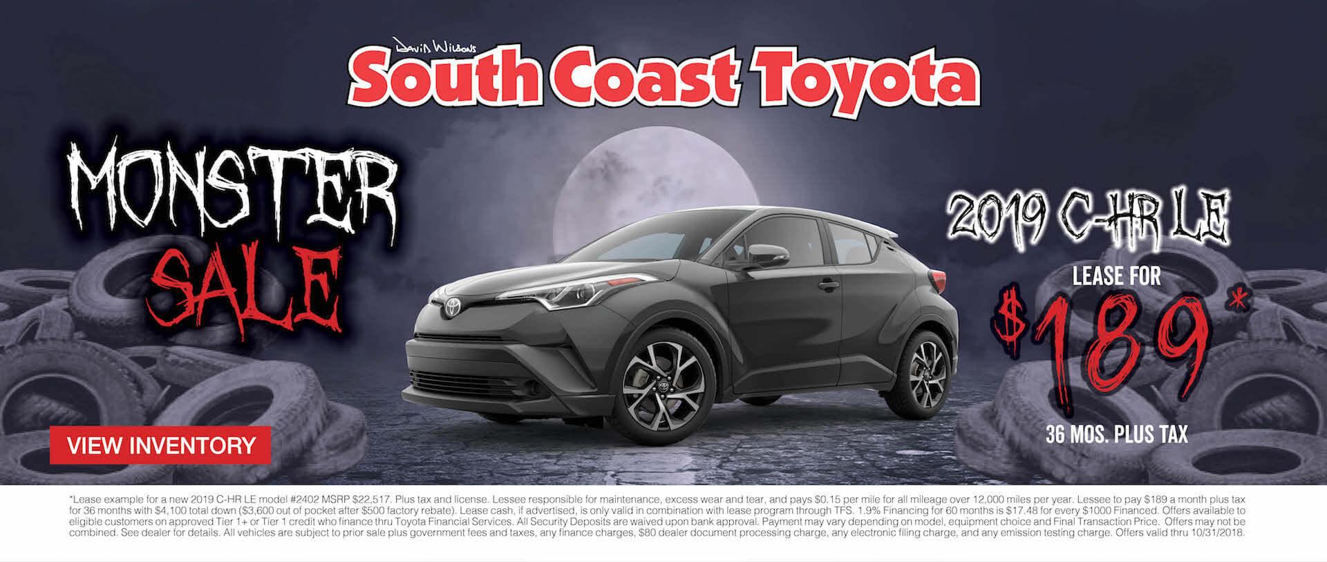 Toyota CH-R $189 Lease