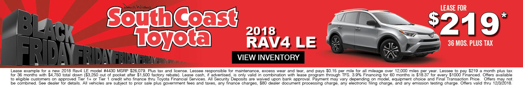 Toyota RAV4 $219 Lease