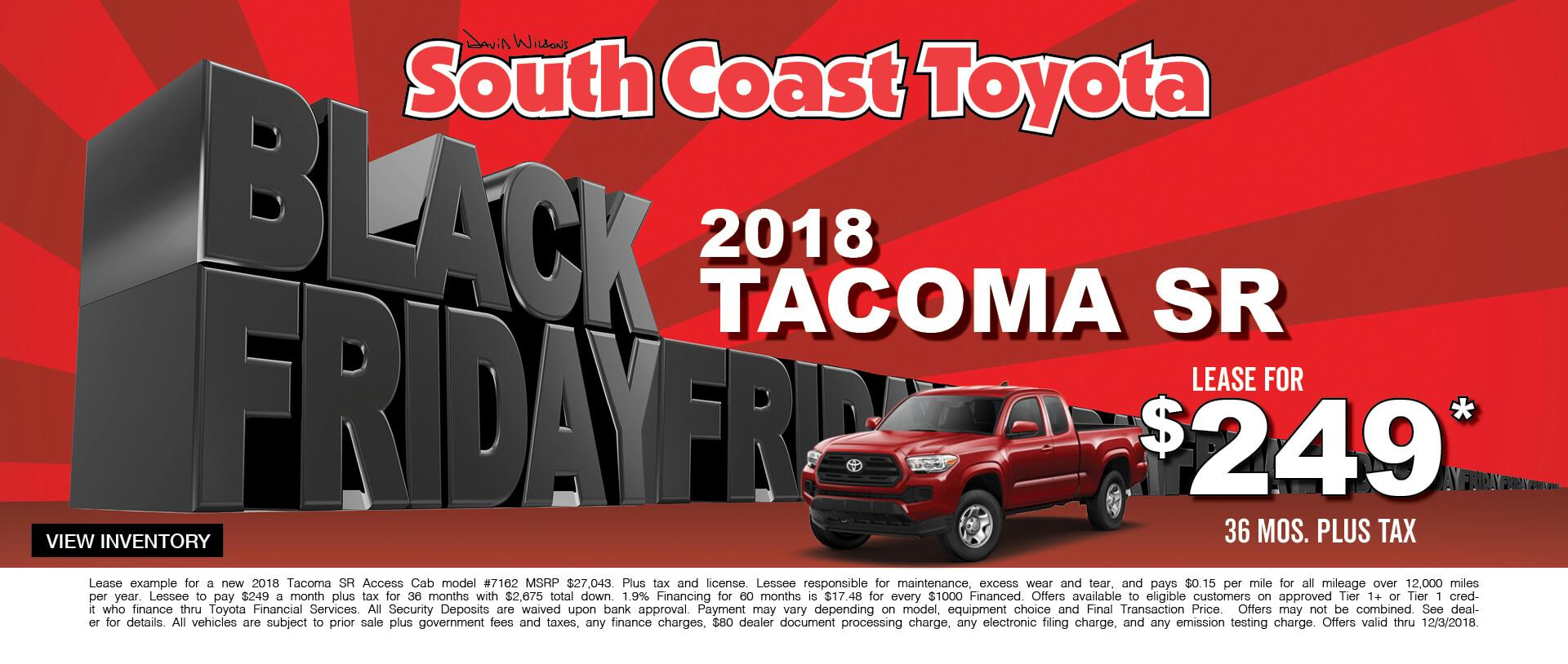 Toyota Tacoma $249 Lease