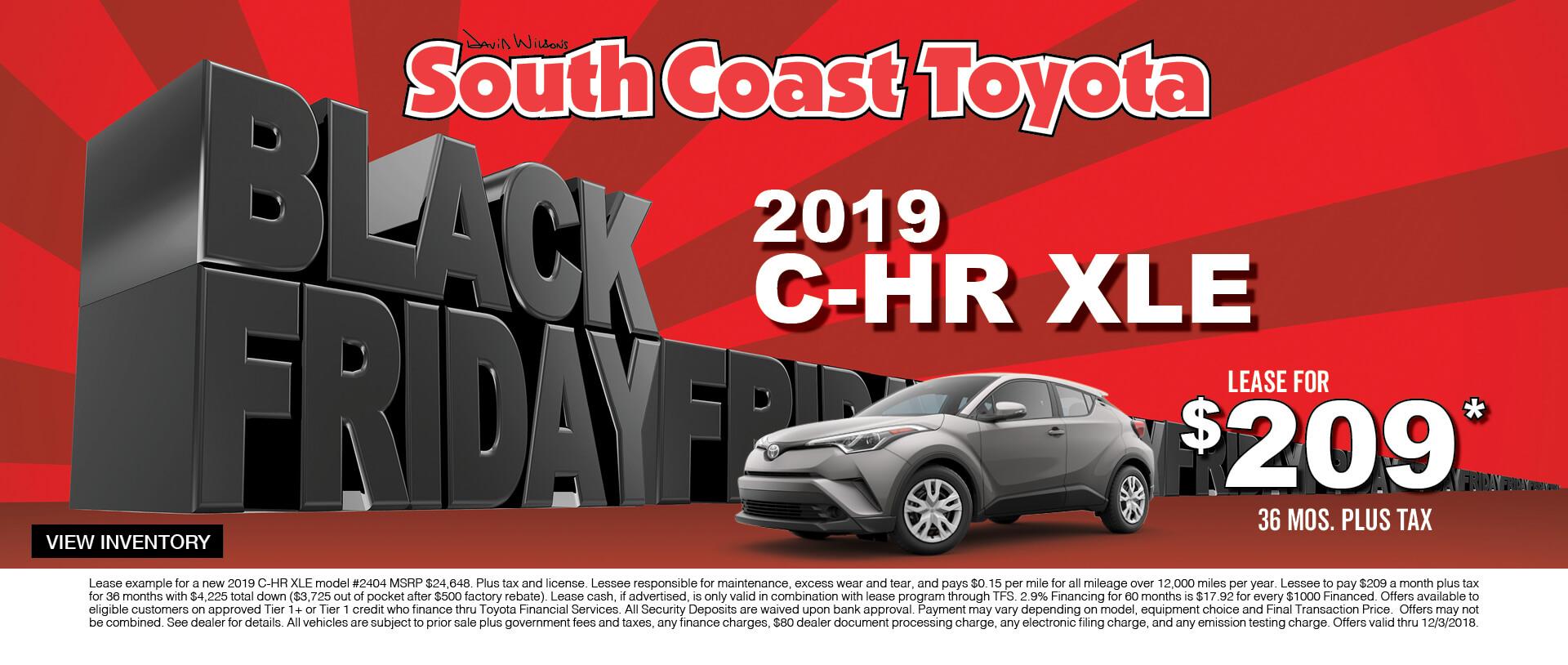 Toyota CH-R $209 Lease