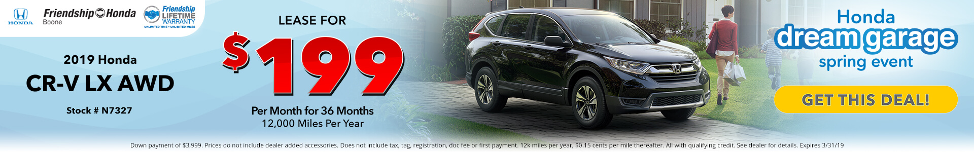 Honda CR-V $199 Lease