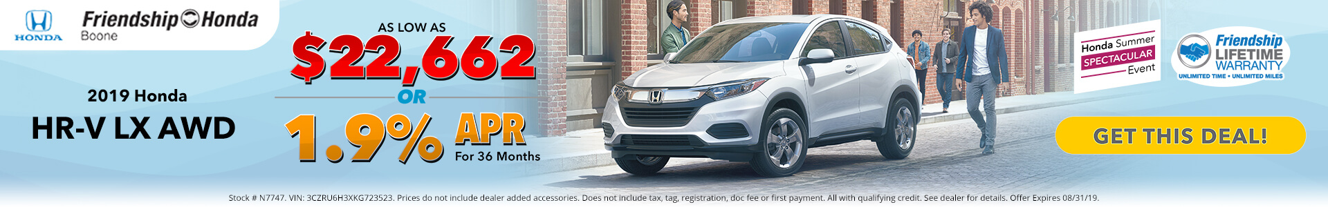 Honda HR-V $22,662 Purchase