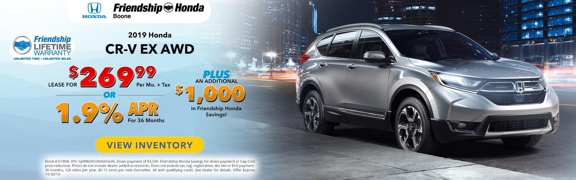 Honda CR- V EX $269.99 Lease
