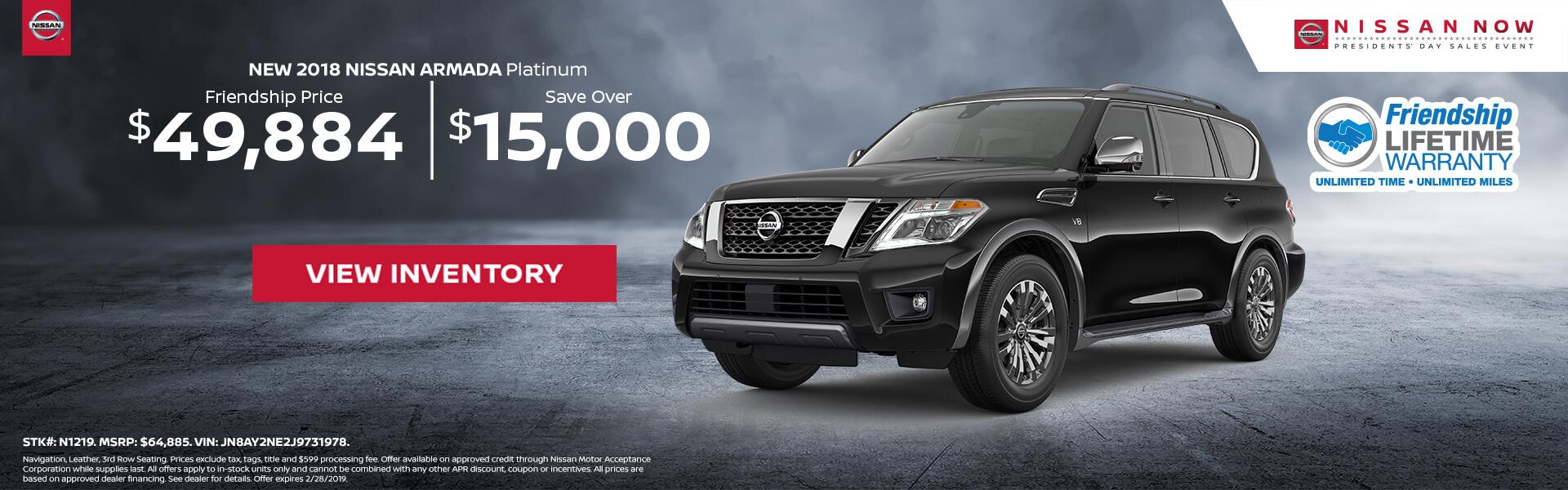 Nissan Armada $49,884 Purchase
