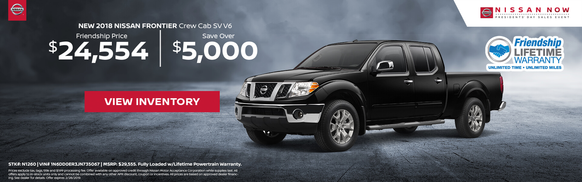 Nissan Frontier $24,554 Purchase