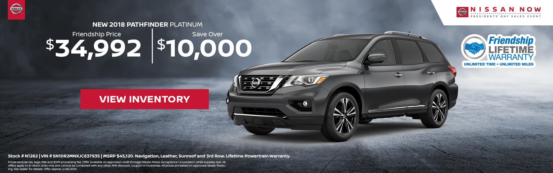 Nissan Pathfinder $34,992 Purchase