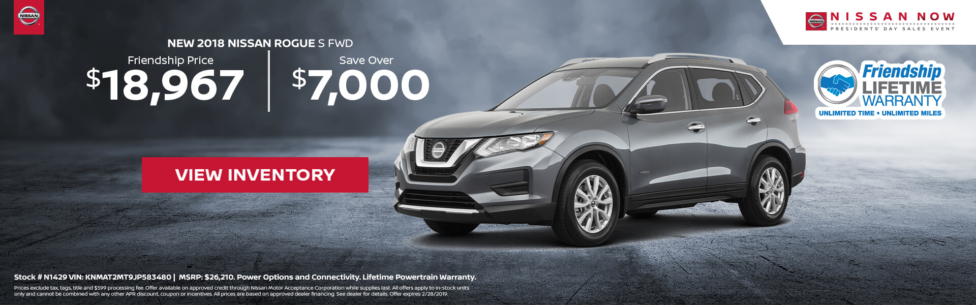 Nissan Rogue $18,967 Purchase