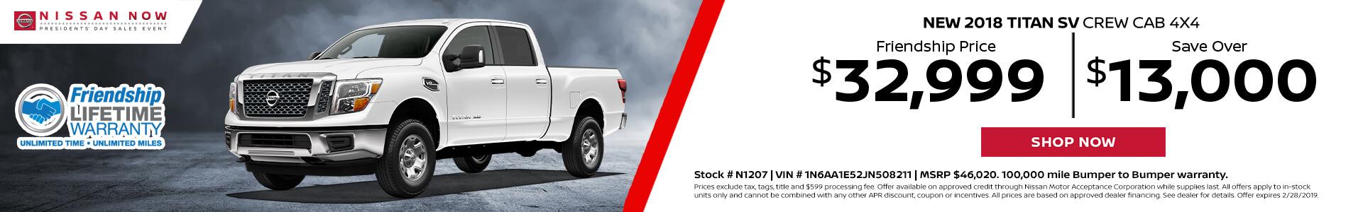 Nissan Titan $34,018 Purchase