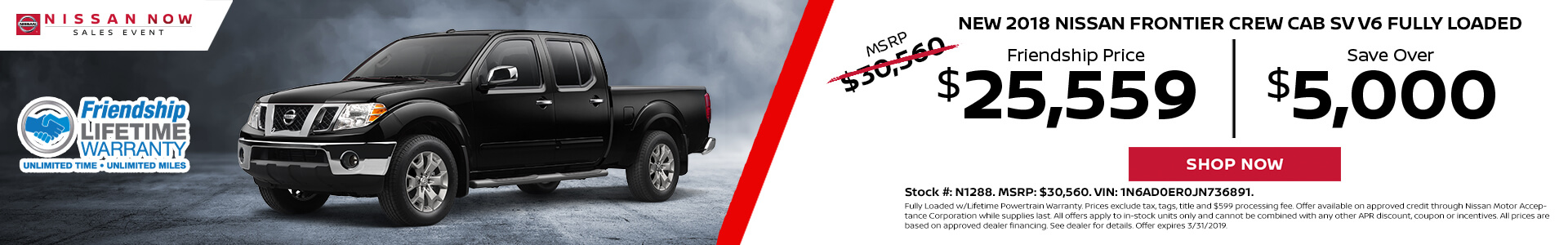 Nissan Frontier $25,559 Purchase