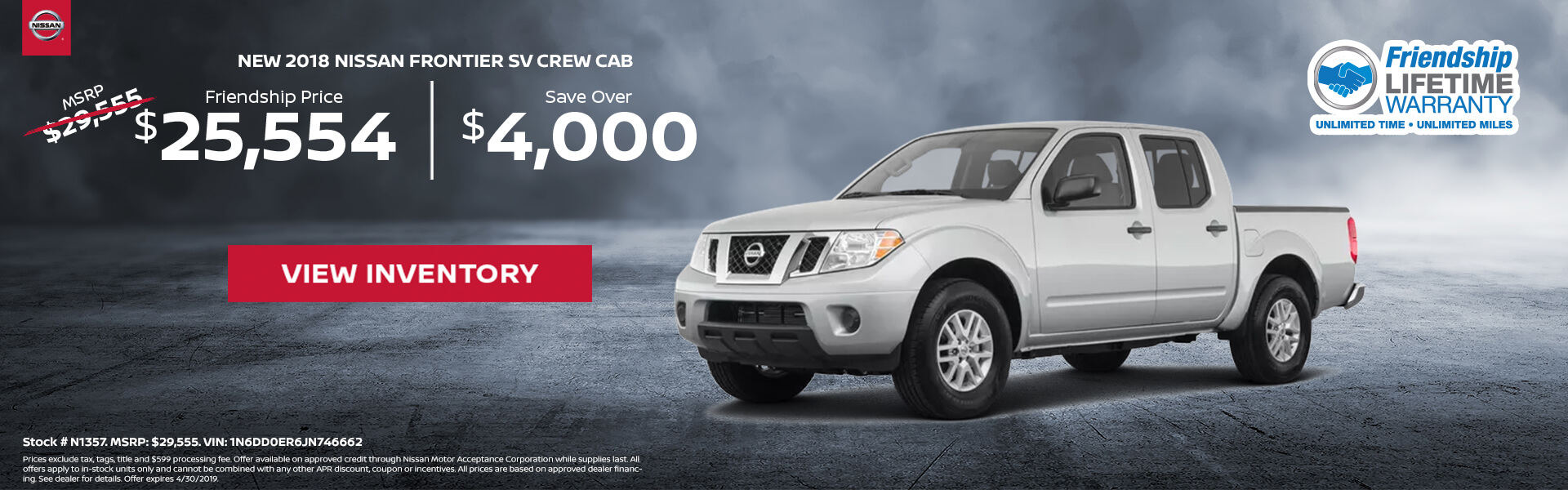 Nissan Frontier $25,554 Purchase