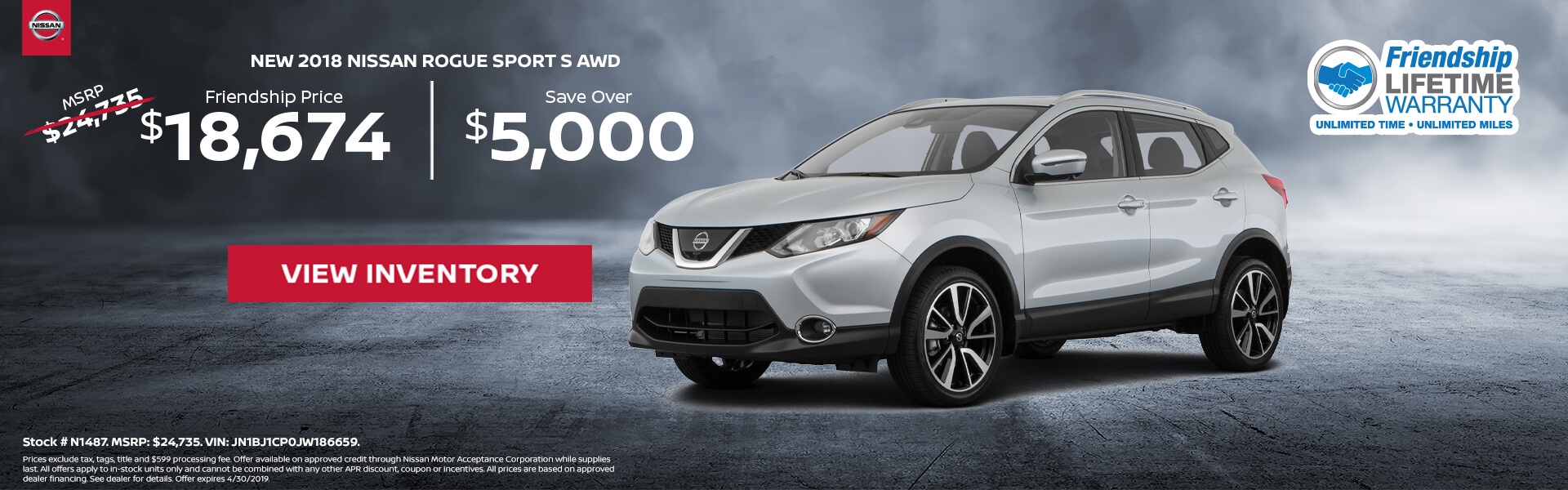 Nissan Rogue Sport $18,675 Purchase