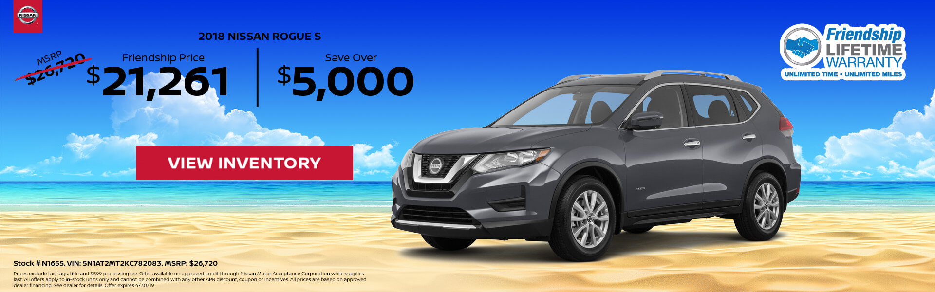Nissan Rogue $21,261 Purchase