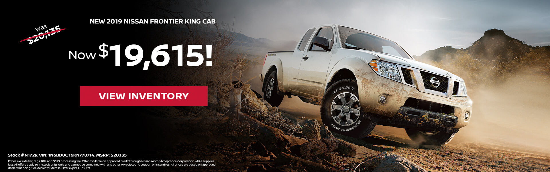 Nissan Frontier $19,615 Purchase