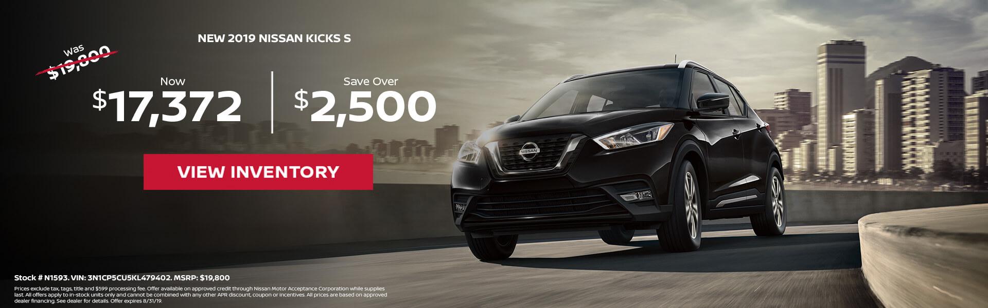 Nissan Kicks $17,372 Purchase