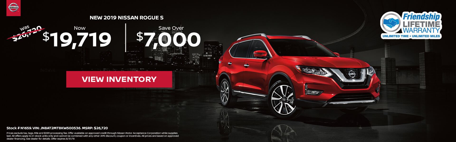 Nissan Rogue $19,719 Purchase