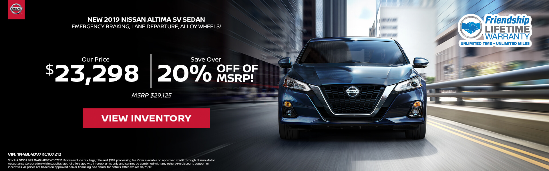Nissan Altima $23,298 Purchase