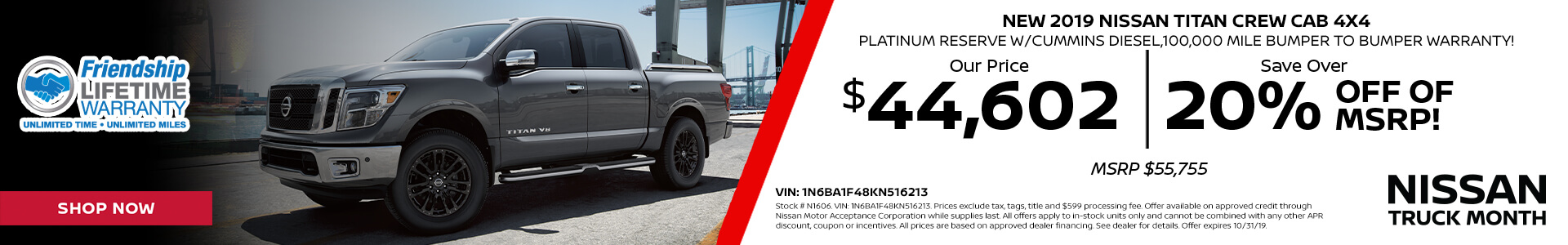 Nissan Titan $44,602 Purchase