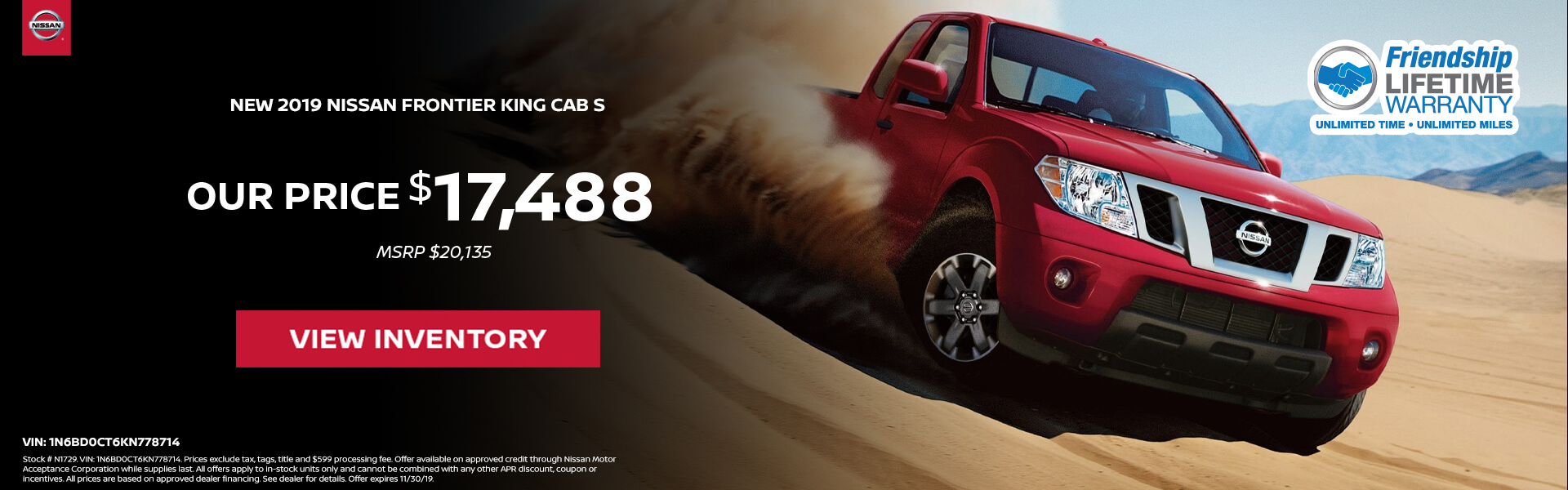 Nissan Frontier $17,488 Purchase