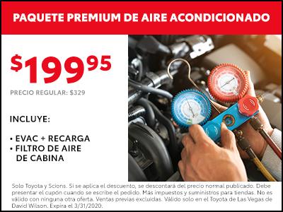 Air Conditioning premium package