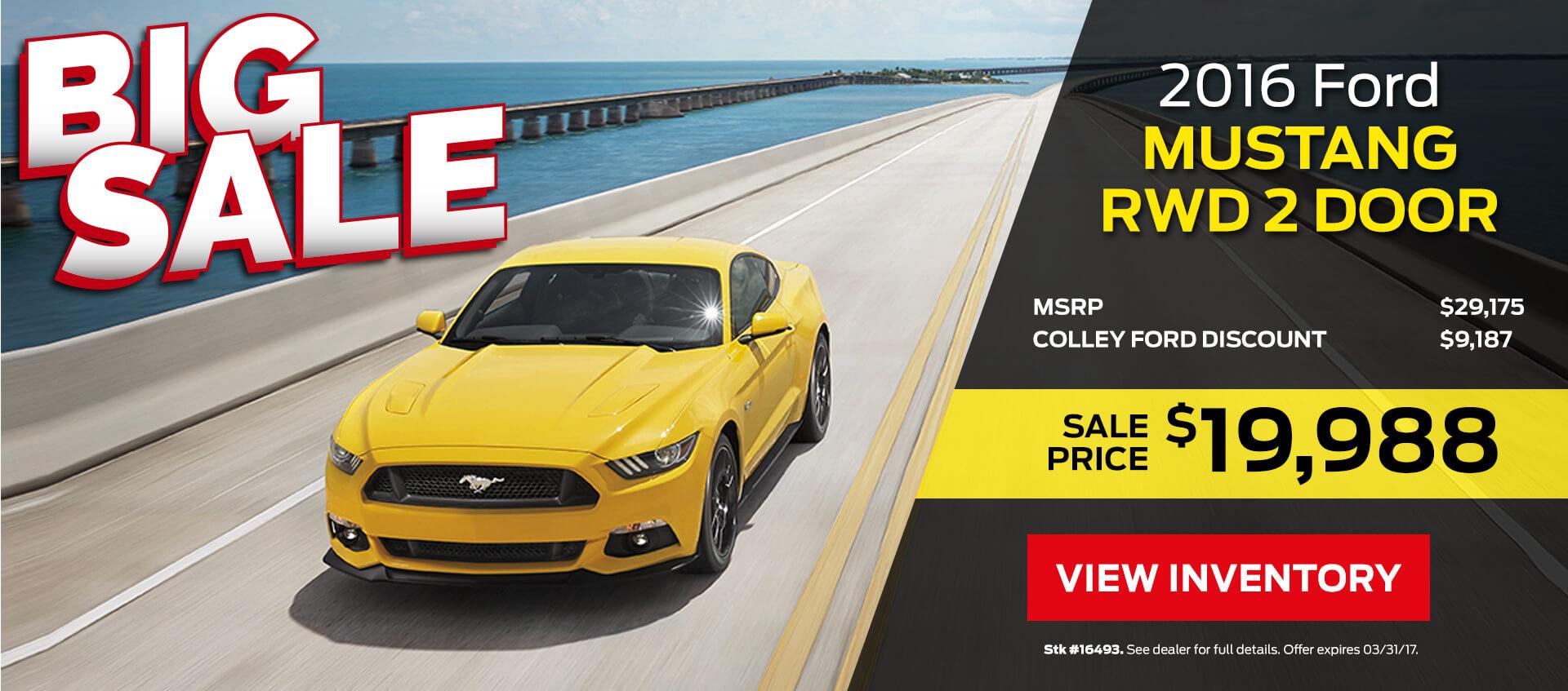 Mustang Sale