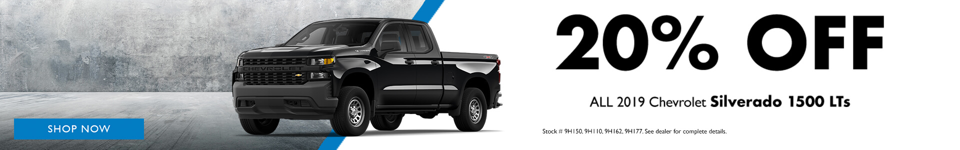 Chevrolet Silverado 1500 LT 20% OFF MSRP