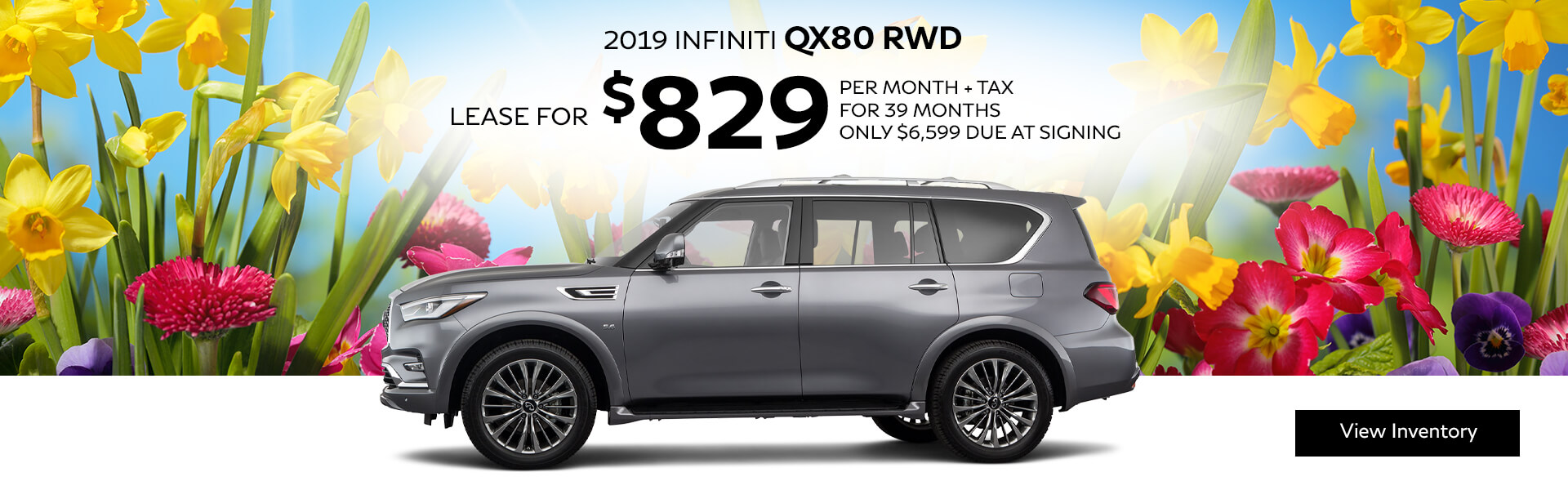 2019 QX80 - Lease for $829