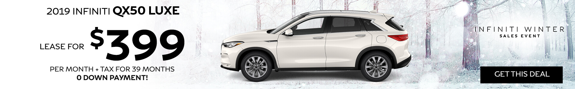 QX50 LUXE - Lease for $399