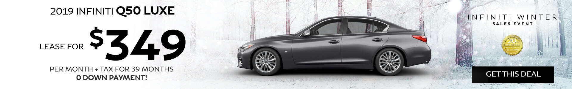 Q50 LUXE - Lease for $349
