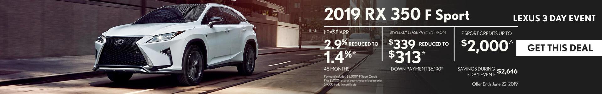 Lexus RX 350 3 Day Sale