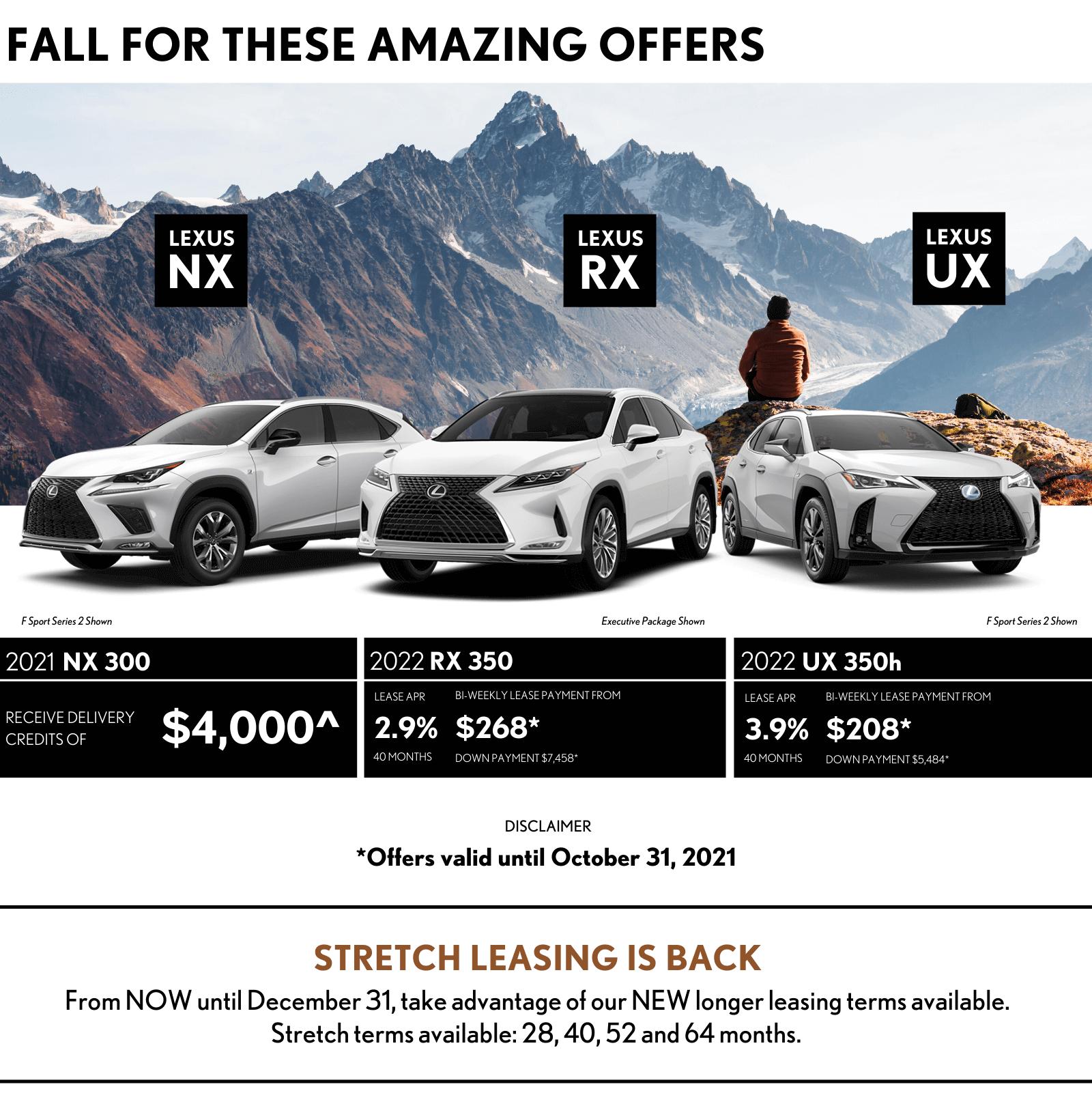 October Lexus Offers lexus