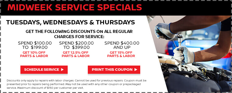 Midweek Service Specials