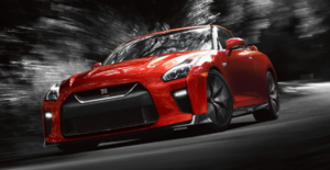 2019 Nissan GT-R in red