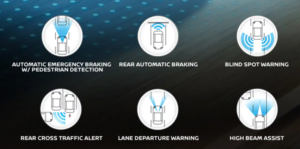 2019 Nissan Murano - Safety Feature Snapshot diagram