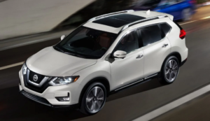 2019 Nissan Rogue overview in white