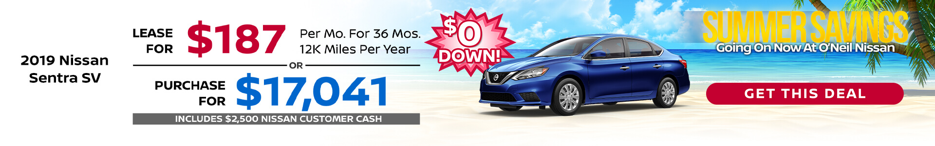 Sentra $187 Lease