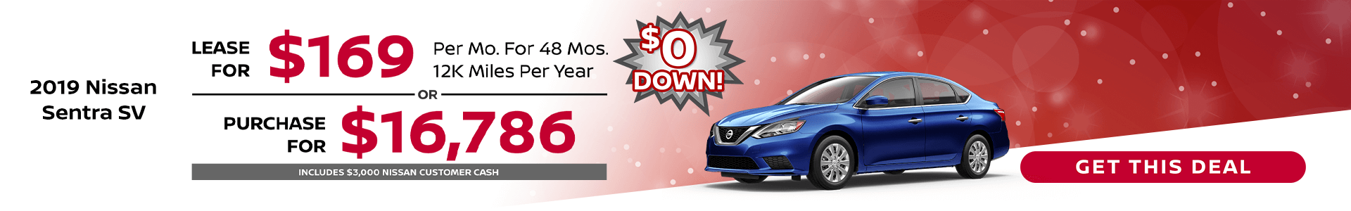 Sentra $169 Lease