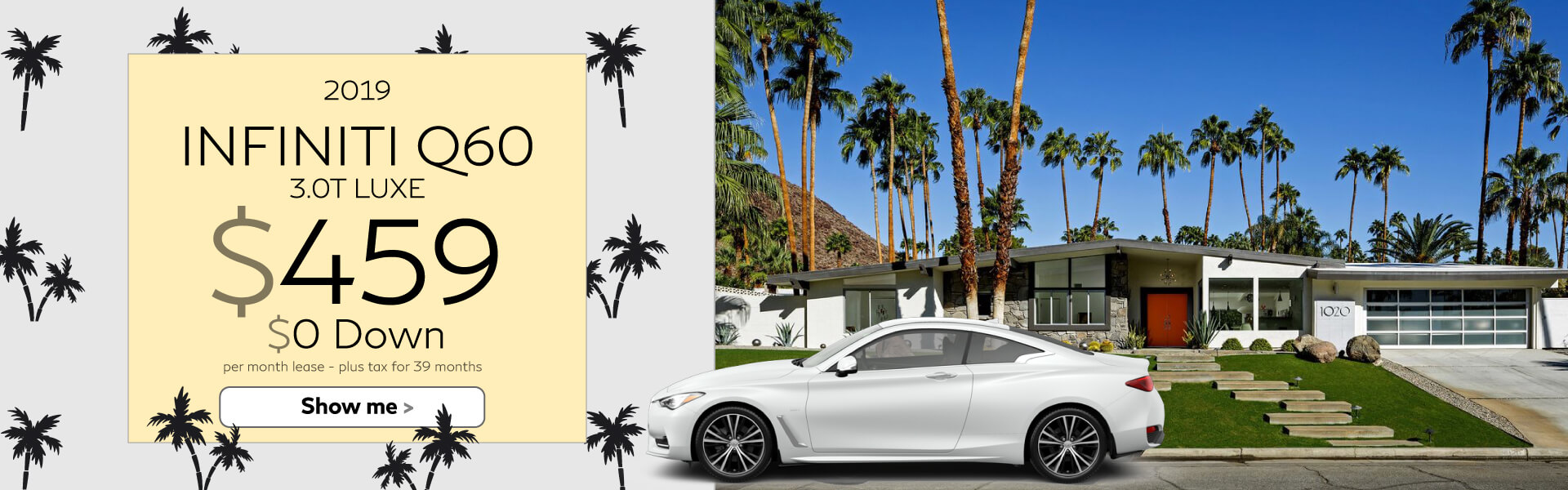 Q60 - Lease for $450 $0 Down
