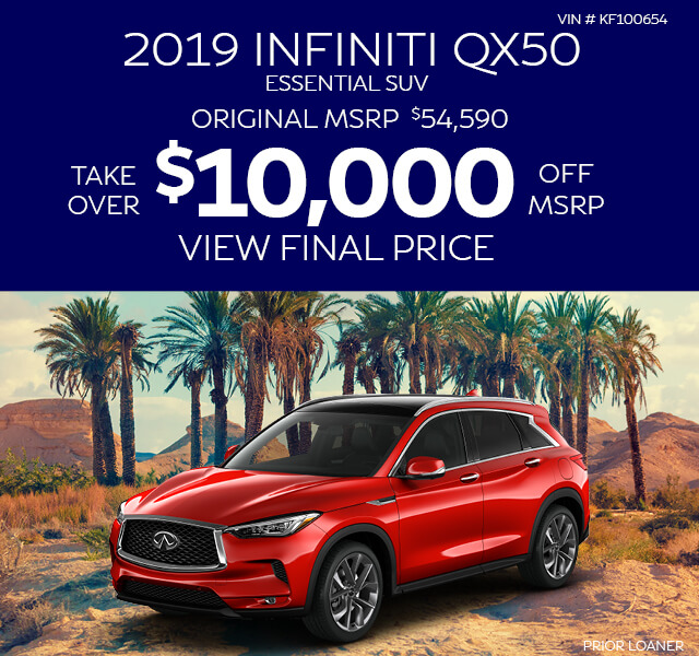 2019 INFINITI QX50 Essential SUV - Buy for $10,000 Off MSRP - VIN# KF106417