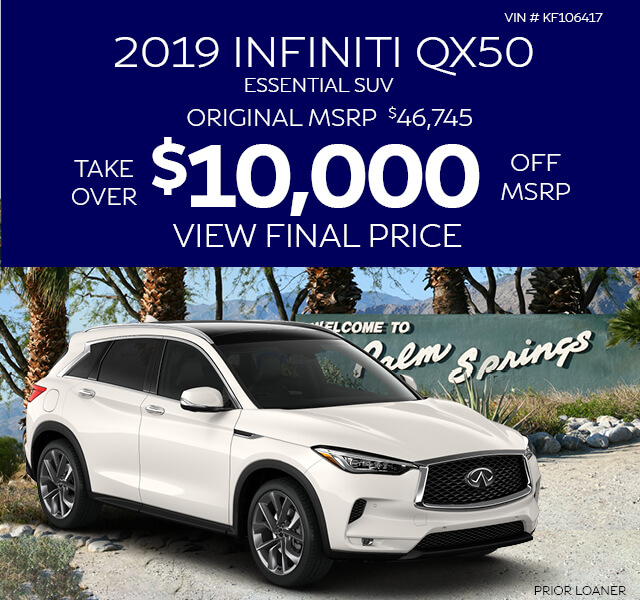 2019 INFINITI QX50 Essential SUV - Buy for $10,000 Off MSRP - VIN# KF104145