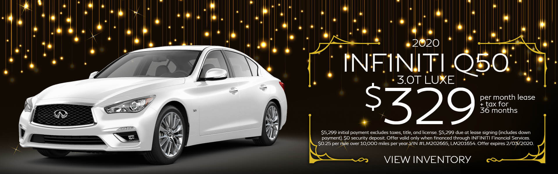 Q50 - Lease for $329
